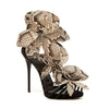Party Rhinestone Flower Open Toe High Heel Sandals