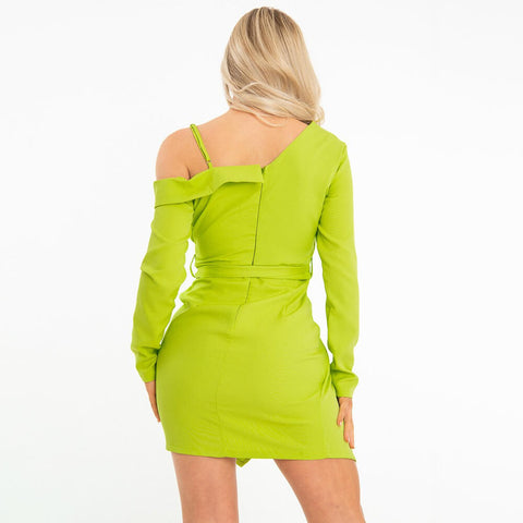 Cold Shoulder Bodycon Short Dress
