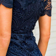 Tight Hollow Out Lace Dress