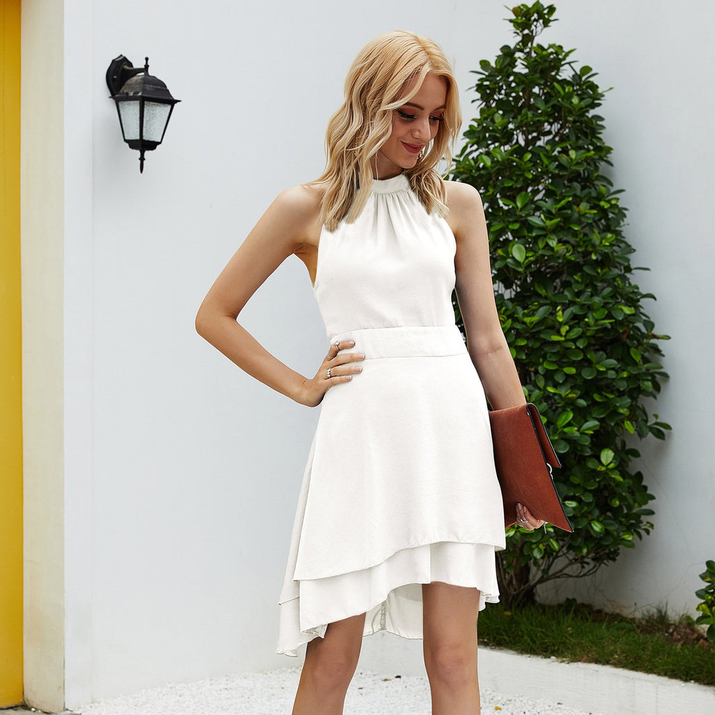 Round neck sleeveless Irregular Dress
