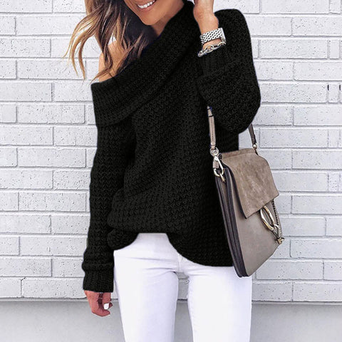 Off Shoulder Crochet Sweater