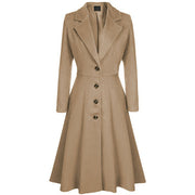 Plain Trench Coat Dress