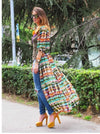 V-neck Open Long Sleeve Long Dress - Shoes-Party - 4