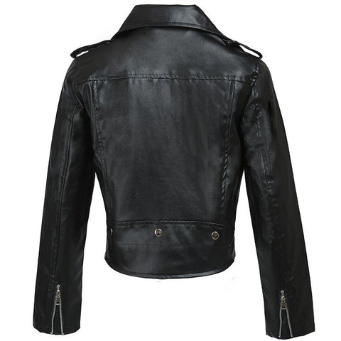 Fitted PU Zipper Moto Jacket