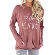 Letter Print Long Sleeves Loose T-shirt