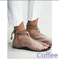 2018 New Trend Clip Toe Straps Flat Beach Sandals