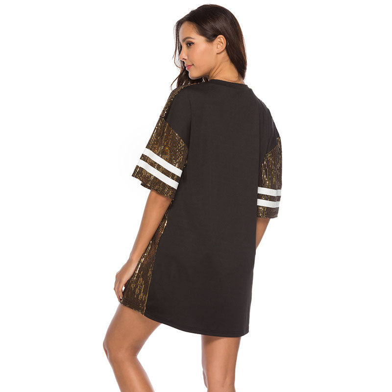 Casual Loose Sequin Figure Dress