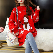Christmas Snowman Round Neck Sweater