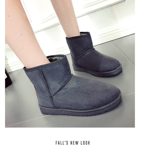 Snow Ankle Fur Casual Flat Boots