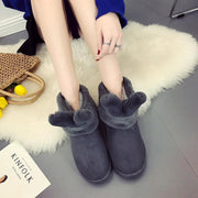 Snow Fur Cute Leather Boots