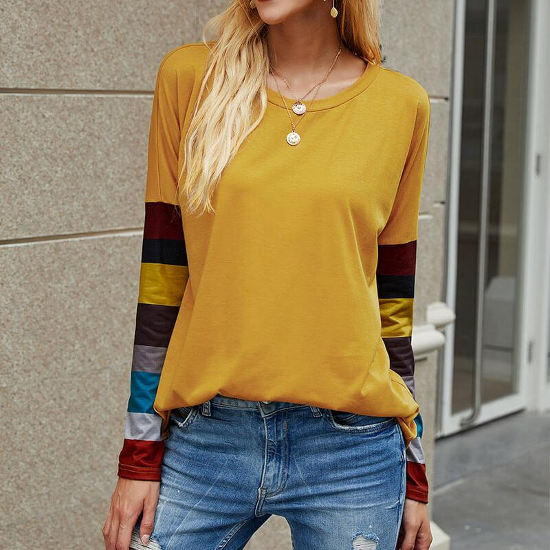Raglan Sleeve Colorblock Top