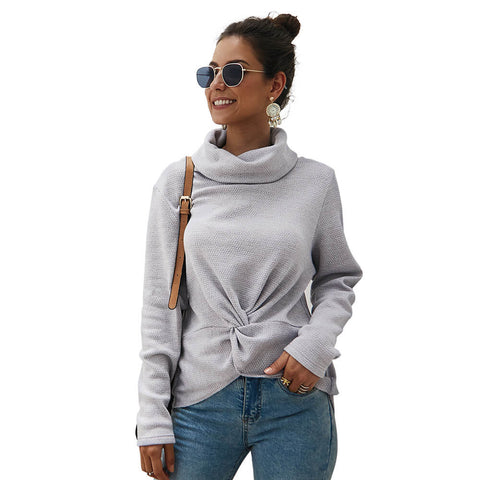 Turtleneck Pullover Twist Sweater