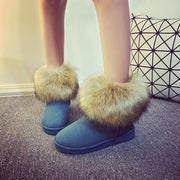 Fur Snow Round Toe Suede Boots