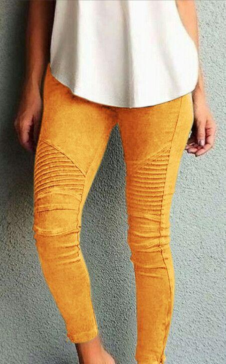 Pure Color Elastic Skinny Drape Long Pants