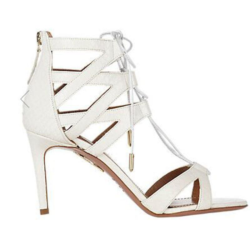 Sexy Suede Strap Point Toe High Heel Sandals