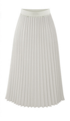 Solid Pleated Long Slim Skirt - Bags in Cart - 4