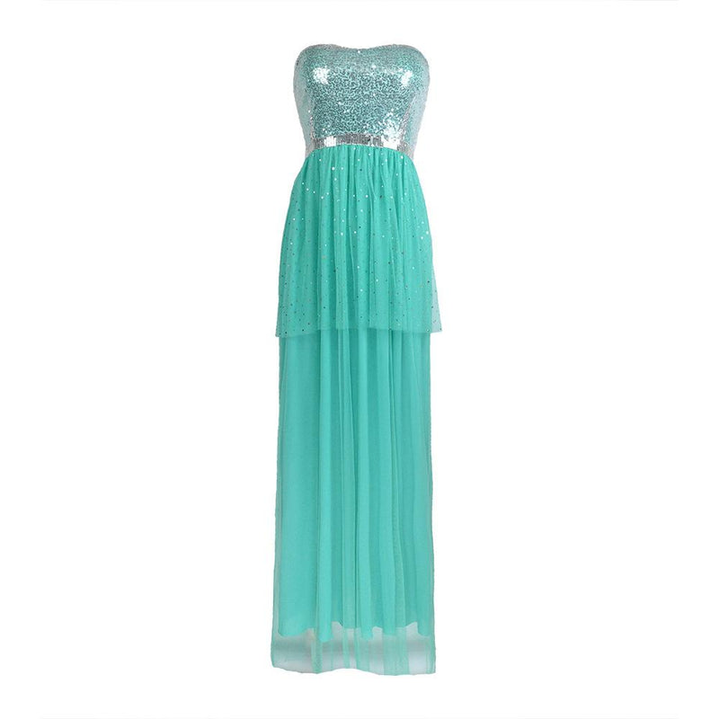Free Shipping Sexy Squined Bridesmaid Sisters Long Dress