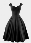 Pure Color Square Sleeveless Ball Gown Vintage Knee-length Dress - Meet Yours Fashion - 2