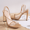Summer PU Square Toe Bunions Sandals