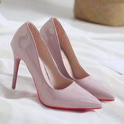 Elegant Patent Leather Pointed Toe Pumps