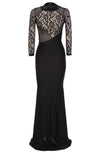 Lace Backless Mesh Stitching Bodycon Long Dress - MeetYoursFashion - 3