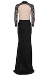 Lace Backless Mesh Stitching Bodycon Long Dress - MeetYoursFashion - 4