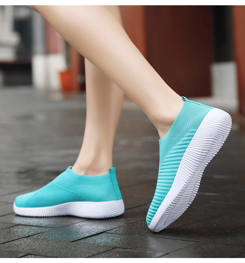 Slip On Flat Sock Sneakers