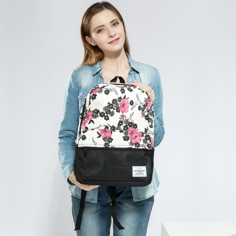 Women Backpacks For Teenage Girls Floral Printed School Bags Travel Leisure Laptop Backpack Female Canvas Backpacks