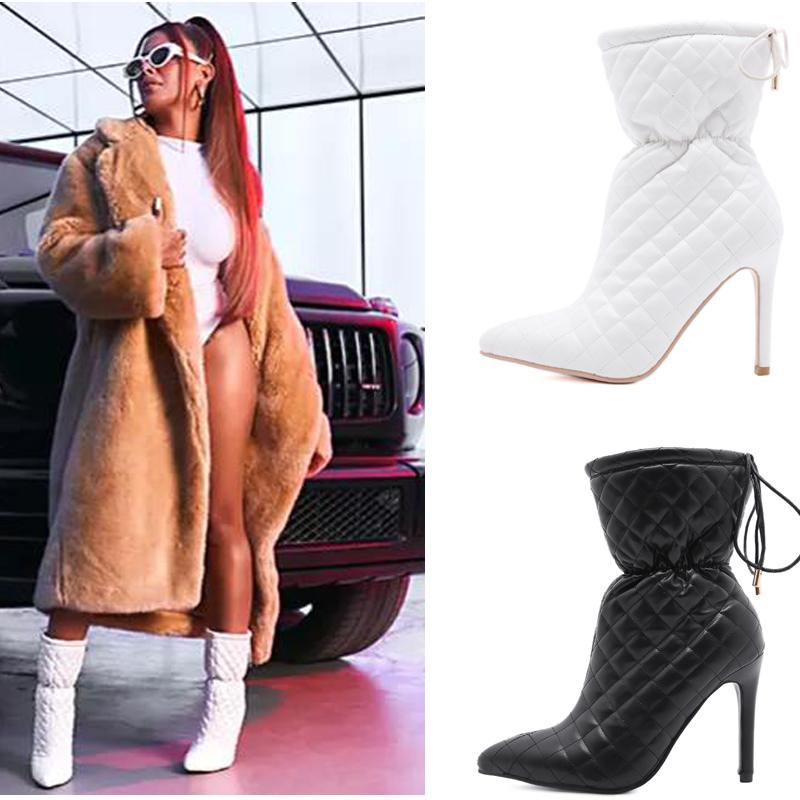 Super High Heel Stiletto Strapping Boots