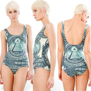 Print Big Scoop Underwear Monokini Bikini - Bags in Cart - 17