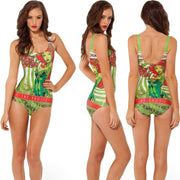 Print Big Scoop Underwear Monokini Bikini - Bags in Cart - 14