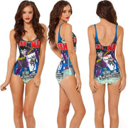 Print Big Scoop Underwear Monokini Bikini - Bags in Cart - 13