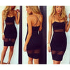 Mesh Stitching Bodycon Pencil Dress - Shoes-Party - 3