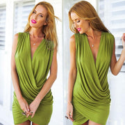 Women Sleeveless Ruched BodyconDress - Shoes-Party - 4