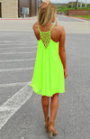 Women Sexy Casual Chiffon Sleeveless Back Hollow Solid A Line Short Dress - Shoes-Party - 7