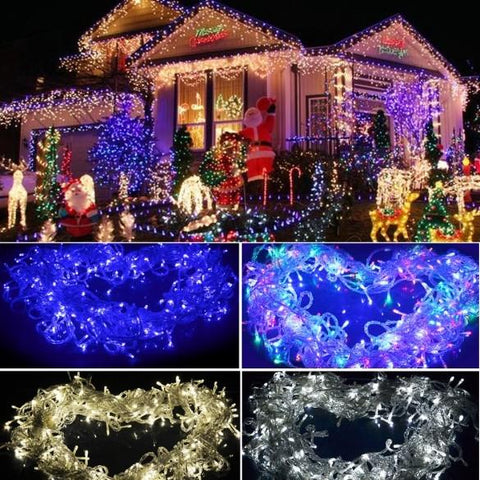 New 30M 200 LED Light Christmas Outdoor String Fairy Wedding Party String Lamp Light