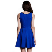 Women Sleeveless  Slim Pleated Dress - Shoes-Party - 7