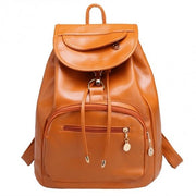 Women Backpack Vintage Style Solid School Soft Rucksack Bags - Oh Yours Fashion - 1