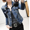 Short Demin Rivet Jacket Womens Coat - Meet Yours Fashion - 2