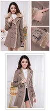 Lapel Fur Collar Long Fur Coat