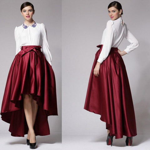 Gorgeous Bowknot Irregular Long Dovetail Skirt