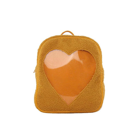 Transparent Love Heart Backpack Fashion Storage Bag Casual Storage Bag Satchel Bookbag for Girls