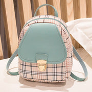 Mini Backpack Crossbody Bag For Teenage Girl Plaid Women Shoulder Phone Purse Korean Style New Trendy Female Bagpack