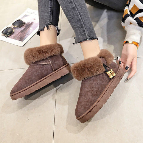 Winter Flat Cute Ankle Casual Boots