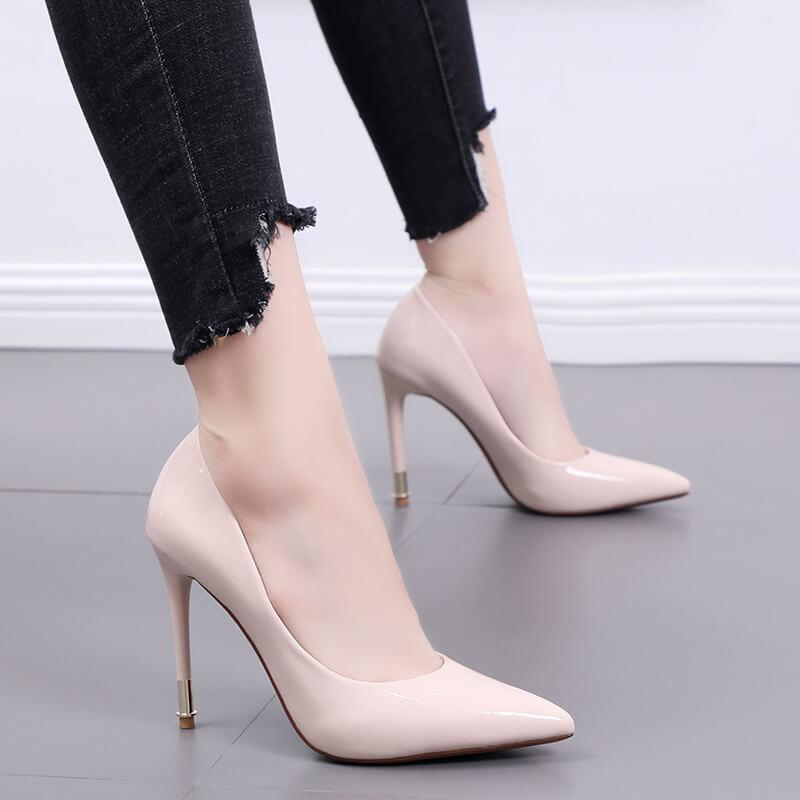 Work Point Toe Wedding Ankle Pumps