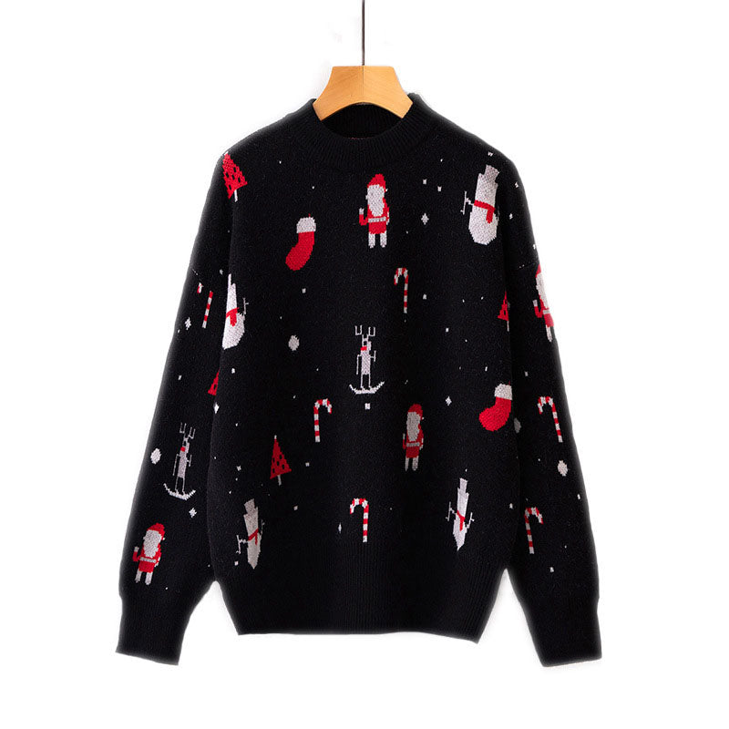 Crewneck Knit Christmas Pullover Sweater