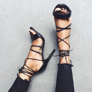 Strap Black Ankle Strap Cutout Sandals