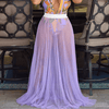 Beach Mesh High Waist See Through Maxi Dress