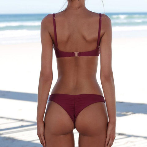 Beach Sling Thong Bottom Two Pieces Bikini