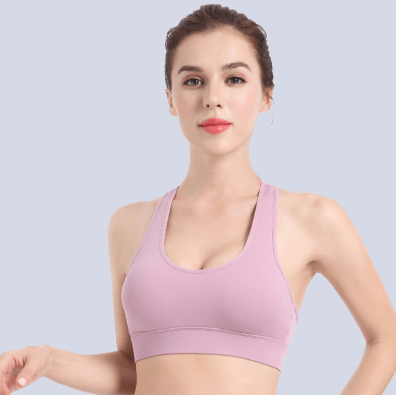 Sports Plain Bra Cutout Underwear Tank Tops